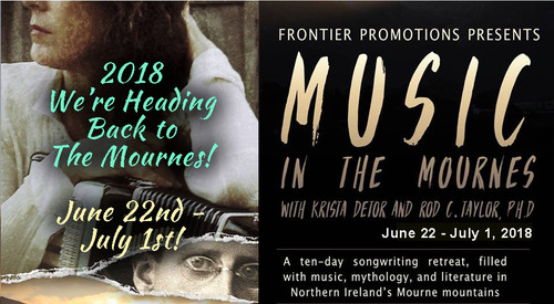 Krista Detor ANNOUNCES the second 039Music in the Mournes039 - a 10-day songwriting retreat in Northern Ireland in June 2019